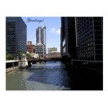 Ciudad del bosquejo de Chicago y del lago Michigan Postales