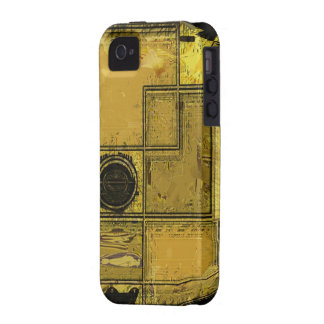 Ciudad del caso del iPhone del arte abstracto del iPhone 4 Funda