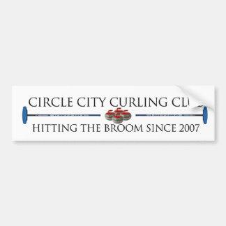 Ciudad del círculo que se encrespa - pegatina para pegatina para auto