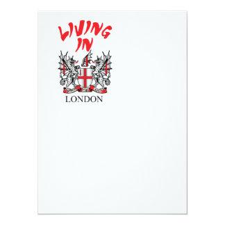 """Ciudad del escudo de armas de Londres Invitación 5.5"""" X 7.5"""""""
