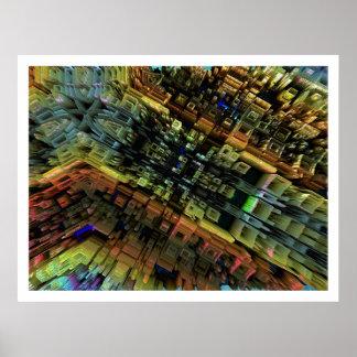 Ciudad del fractal póster