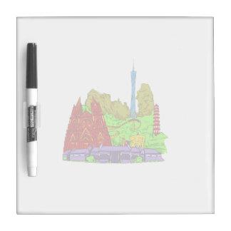 ciudad del guangzhon ningún gráfico buildings.png  tablero blanco