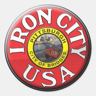 Ciudad del hierro pegatina