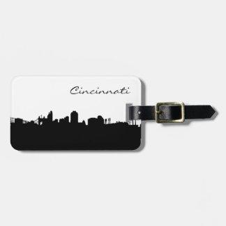 Ciudad del horizonte de Cincinnati Ohio Etiqueta De Equipaje