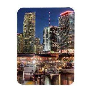 Ciudad del horizonte de Miami en la Florida Iman Rectangular