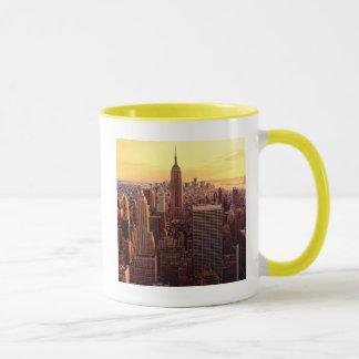 Ciudad del horizonte de Nueva York con el estado