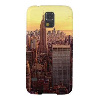 Ciudad del horizonte de Nueva York con el estado d Carcasa Para Galaxy S5