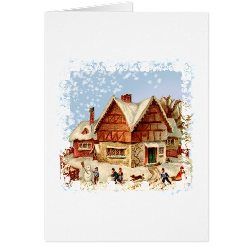 ciudad del invierno tarjeta