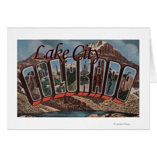 Ciudad del lago, Colorado - escenas grandes de la  Tarjeta De Felicitación