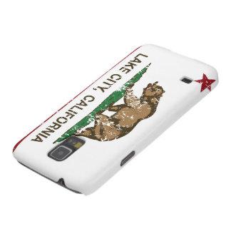 Ciudad del lago flag de la república de California Carcasa De Galaxy S5