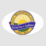 Ciudad del logotipo bicentenario de Indiana del Calcomania De Oval