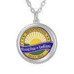 Ciudad del logotipo bicentenario de Indiana del so Pendientes Personalizados