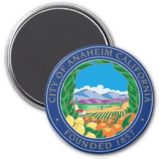 Ciudad del logotipo de Anaheim Imán Redondo 7 Cm