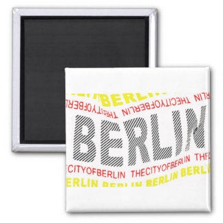 Ciudad del logotipo de Berlín/del recuerdo (1) Imán Cuadrado