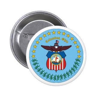 Ciudad del logotipo de Columbus Chapa Redonda 5 Cm