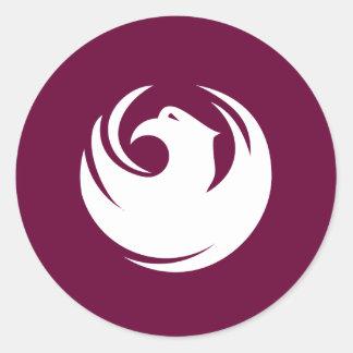 Ciudad del logotipo del funcionario de Phoenix Pegatina Redonda