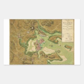 Ciudad del mapa de Boston por la página de Thomas Pegatina Rectangular