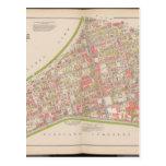 Ciudad del mapa de Bronx Tarjetas Postales