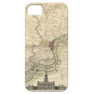 Ciudad del mapa de Philadelphia Pennsylvania Funda Para iPhone SE/5/5s