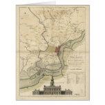Ciudad del mapa de Philadelphia Pennsylvania Tarjeta De Felicitación Grande