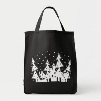 Ciudad del navidad bolsas de mano
