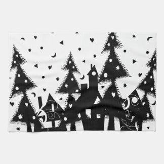 Ciudad del navidad toallas