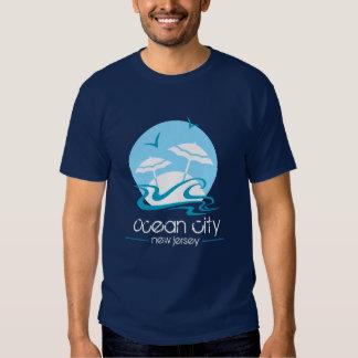 Ciudad del océano, camiseta de NJ Playera