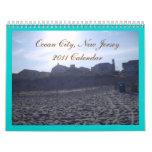 Ciudad del océano - collage - Callendar Calendarios De Pared