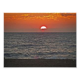 Ciudad del océano de la salida del sol impresiones fotograficas
