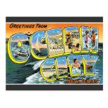 Ciudad del océano de los saludos, postal del vinta