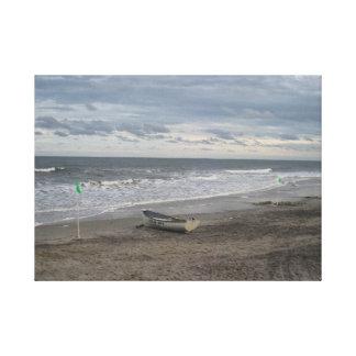 Ciudad del océano, impresión de la lona de NJ Impresión De Lienzo
