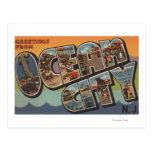Ciudad del océano, New Jersey - escenas grandes de Tarjetas Postales