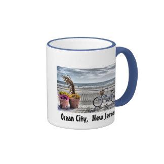 Ciudad del océano New Jersey Tazas De Café