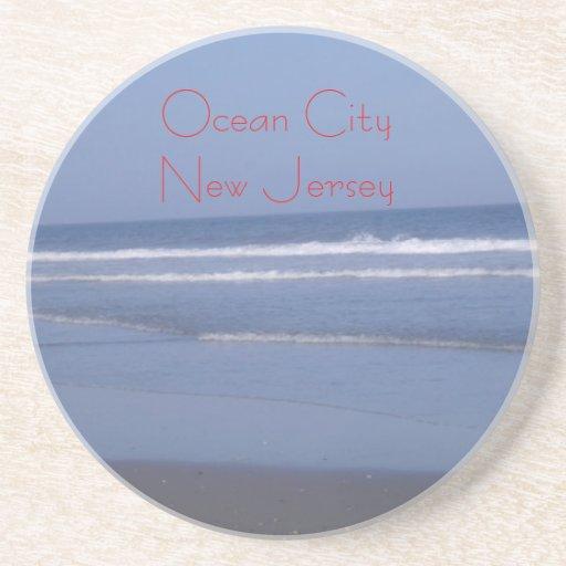 Ciudad del océano - Océano Atlántico - práctico de Posavasos Personalizados