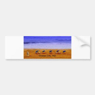 Ciudad del océano, pegatina para el parachoques de pegatina para auto