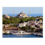 Ciudad del paisaje urbano de Estambul en Turquía Tarjeta Postal