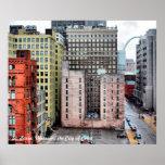 Ciudad del paisaje urbano de St. Louis del color d Póster