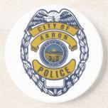 Ciudad del pegatina del Departamento de Policía de Posavasos Manualidades