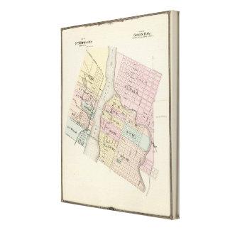 Ciudad del pie Howard, ciudad del Green Bay Impresión En Lona Estirada