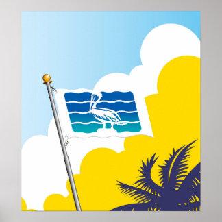 Ciudad del poster de la bandera de St Petersburg
