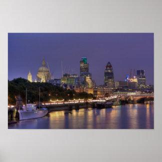 Ciudad del poster de Londres Póster
