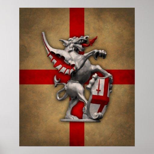 Ciudad del poster del dragón de Londres