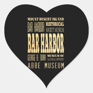 Ciudad del puerto de la barra del arte de la pegatina en forma de corazón