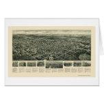 Ciudad del puerto del huevo, mapa panorámico de NJ Tarjeta De Felicitación