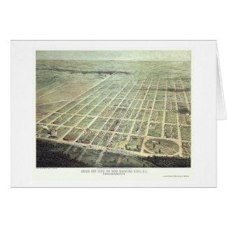 Ciudad del puerto del huevo, mapa panorámico de NJ Felicitacion