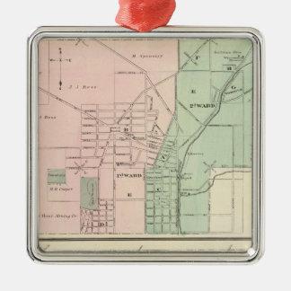 Ciudad del punto mineral y pueblo de Dodgeville Adorno Navideño Cuadrado De Metal
