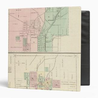 """Ciudad del punto mineral y pueblo de Dodgeville Carpeta 1 1/2"""""""