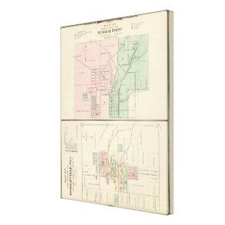 Ciudad del punto mineral y pueblo de Dodgeville Impresión En Lienzo