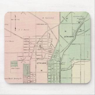 Ciudad del punto mineral y pueblo de Dodgeville Alfombrillas De Raton