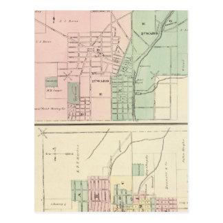 Ciudad del punto mineral y pueblo de Dodgeville Tarjetas Postales